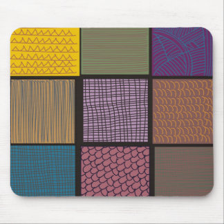 Abstract African quilt patchwork Mouse Pad