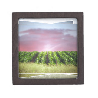 Abstract African Sunset Keepsake Box
