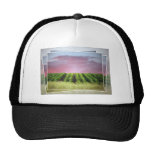 Abstract African Sunset Mesh Hat