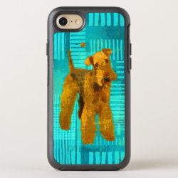 Abstract Airedale Terriers Digital Art OtterBox Symmetry iPhone 8/7 Case