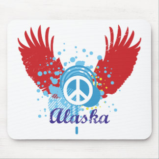 Abstract Alaska Peace Mouse Pad