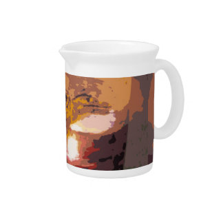 Abstract Alligator Reptile Art Beverage Pitcher