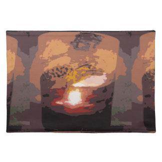 Abstract Alligator Reptile Art Cloth Placemat