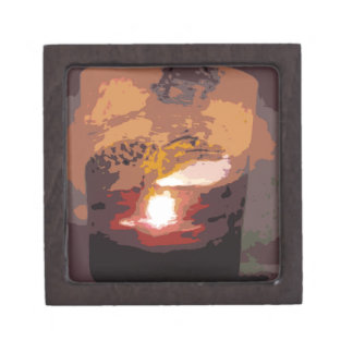 Abstract Alligator Reptile Art Keepsake Box