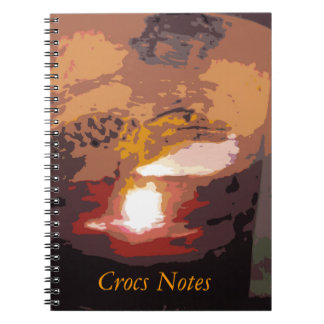 Abstract Alligator Reptile Art Note Book