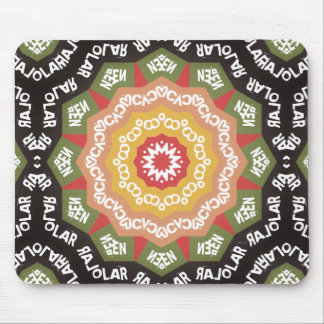 Abstract Alphabet Design 1 Mouse Pad