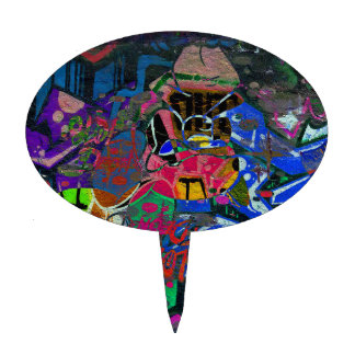 Abstract Altered Graffiti Cake Topper