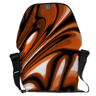 Abstract Amber Ocean Courier Bag
