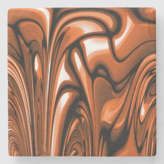 Abstract Amber Ocean Stone Coaster
