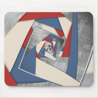 Abstract America Collage 2 Mouse Pad