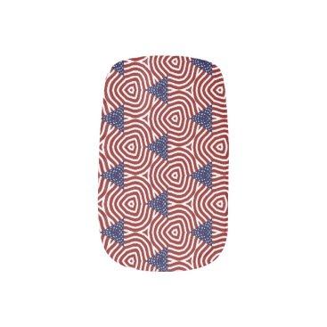 Abstract American Flag Minx Nail Art