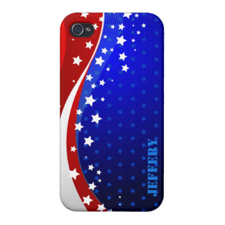 Abstract American Flag Monogram 2 iPhone 4 Covers