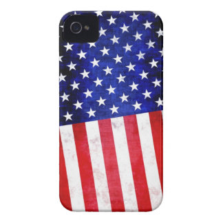 Abstract American flag on Blackberry case