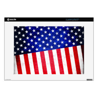 Abstract American flag on laptop skin