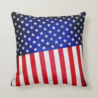 Abstract American flag on pillow