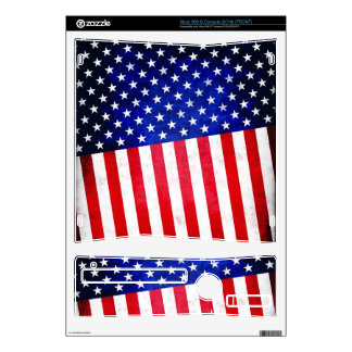 Abstract American flag on XBOX 360 skin