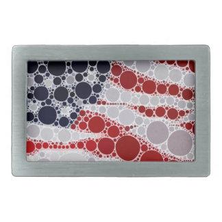 Abstract American Flag - Patriotic Print Rectangular Belt Buckle