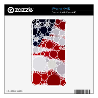 Abstract American Flag - Patriotic Print Skins For The iPhone 4