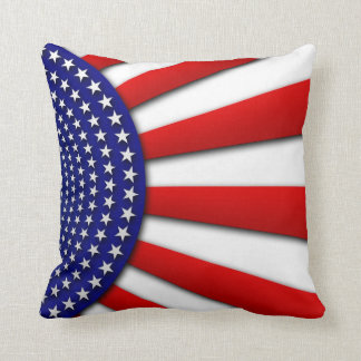 Abstract American Flag Pillow