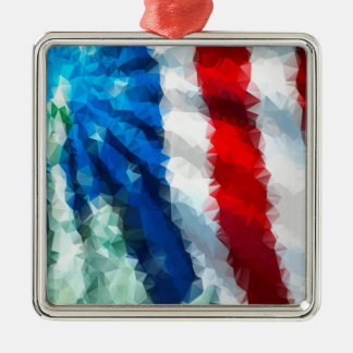 Abstract American Flag/Premium Square Ornament