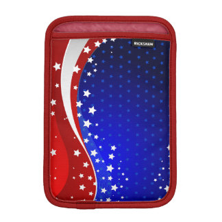 Abstract American Flag Red White And Blue iPad Mini Sleeve