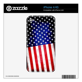 Abstract American flag skin iPhone 4S Skins