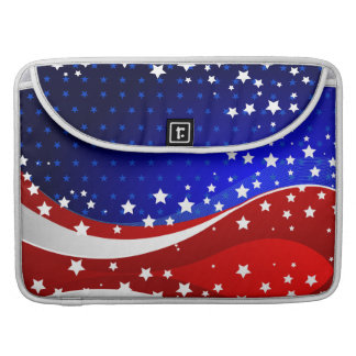 Abstract American Flag Stripes And Stars Sleeve For MacBook Pro