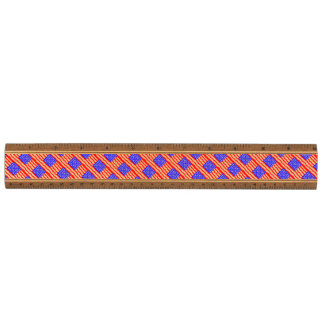 Abstract American Flag Walnut Ruler