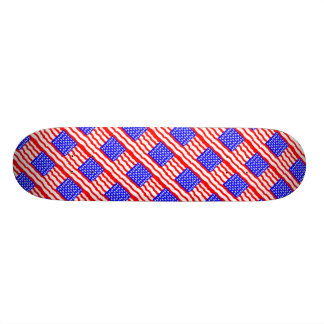 Abstract American Flags Skateboard Deck