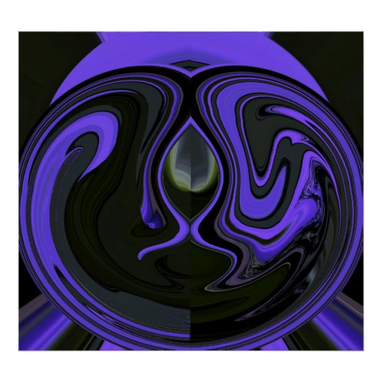 Abstract Amethyst Psychedelia 4 Poster