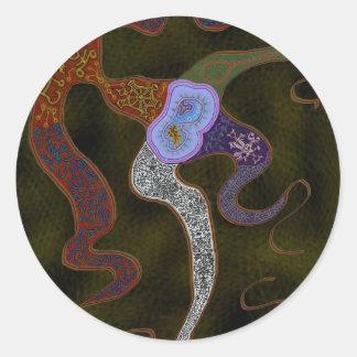Abstract Amoeba Classic Round Sticker