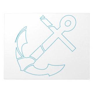 Abstract anchor design notepad