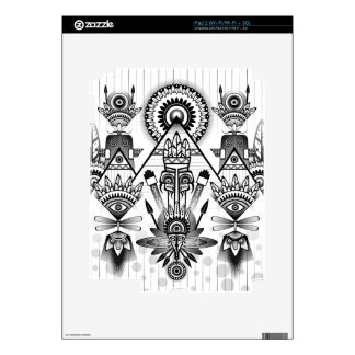 Abstract Ancient Native Indian Tribal Decals For The iPad 2