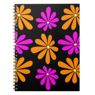 Abstract and Colorful Gerbera Daisies Spiral Note Books
