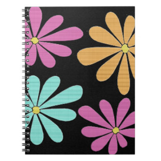Abstract and Colorful Gerbera Daisies Note Books