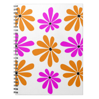 Abstract and Colorful Gerbera Daisies Spiral Note Book