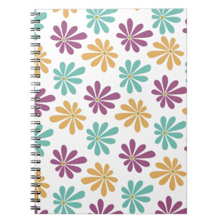 Abstract and Colorful Gerbera Daisies Spiral Notebook