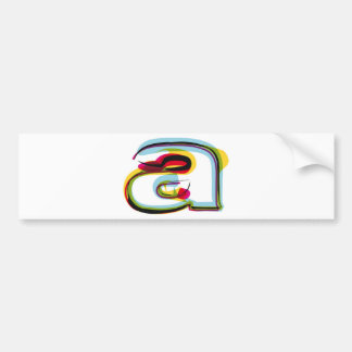 Abstract and colorful letter a bumper sticker