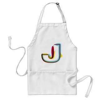 Abstract and colorful letter G Adult Apron
