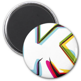 Abstract and colorful letter K Magnet