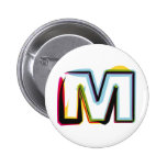 Abstract and colorful letter M Button