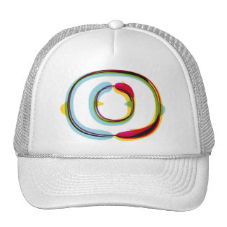 Abstract and colorful letter O Trucker Hat