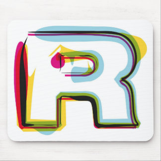 Abstract and colorful letter R Mouse Pad