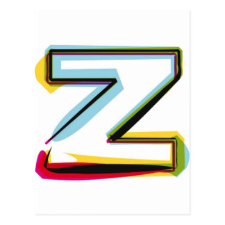 Abstract and colorful letter Z Postcard