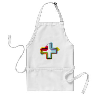 Abstract and colorful symbol + adult apron