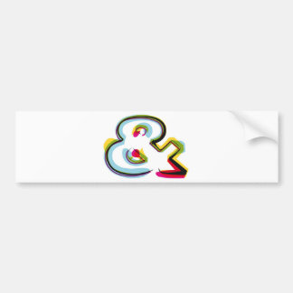Abstract and colorful symbol & bumper sticker
