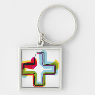 Abstract and colorful symbol + keychain
