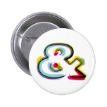 Abstract and colorful symbol & pinback button