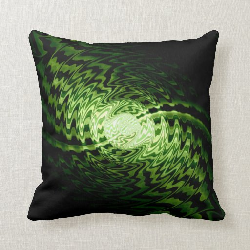 Abstract and light waves swirl 4 throw pillow