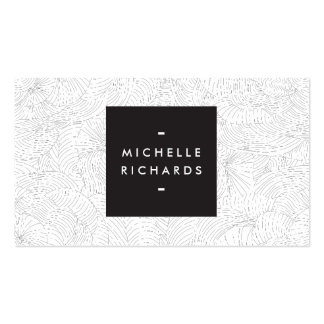 Abstract and Organic Gray Art with Your Name Business Card